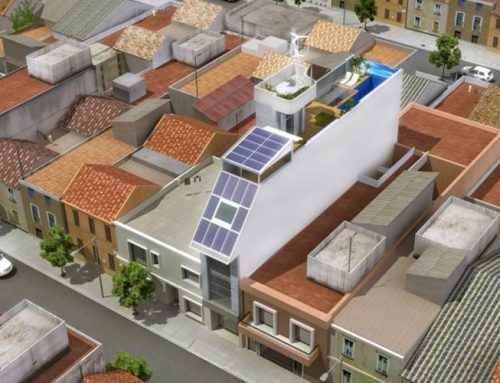 Instalación solar híbrida ECOMESH para Geco Home Project en Carcaixent