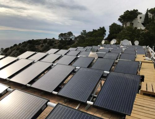 Instalación solar híbrida hotel Ibiza