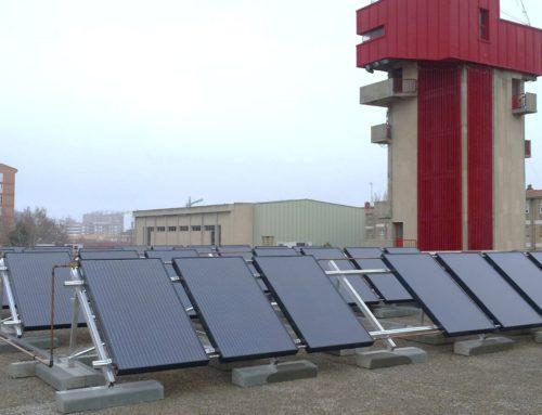 Instalación solar híbrida para parque de bomberos en Zaragoza.