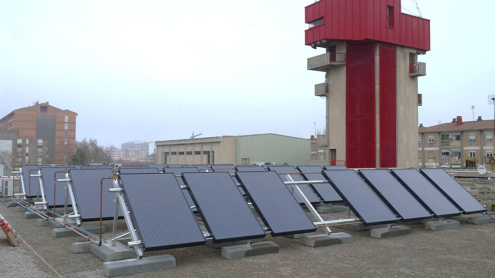 Hybrid solar installation