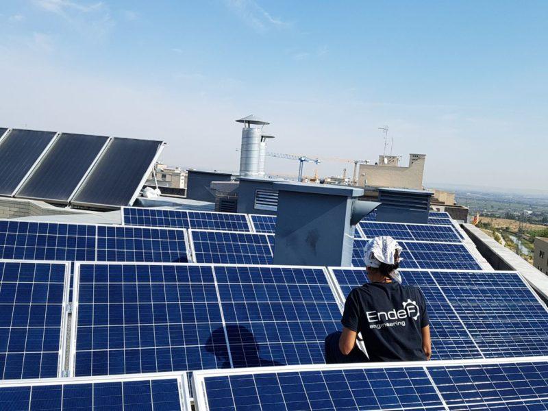 Instalación solar híbrida