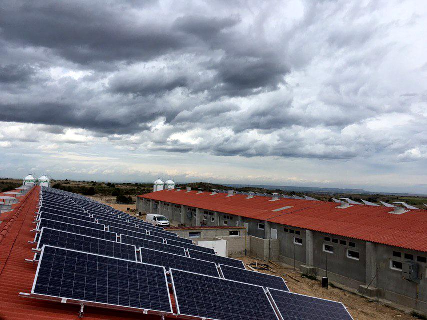 Instalación fotovoltaica aislada como solución energética en granjas porcinas