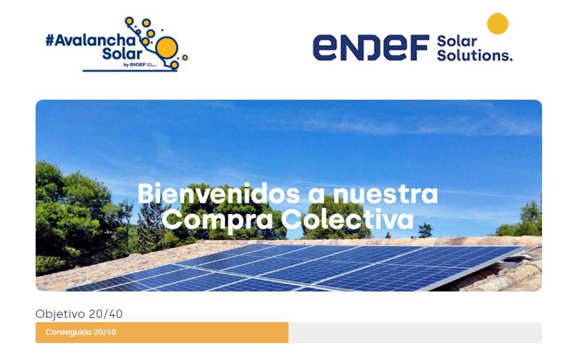 Compra colectiva para instalaciones fotovoltaicas de autoconsumo #AvalanchaSolar de EndeF