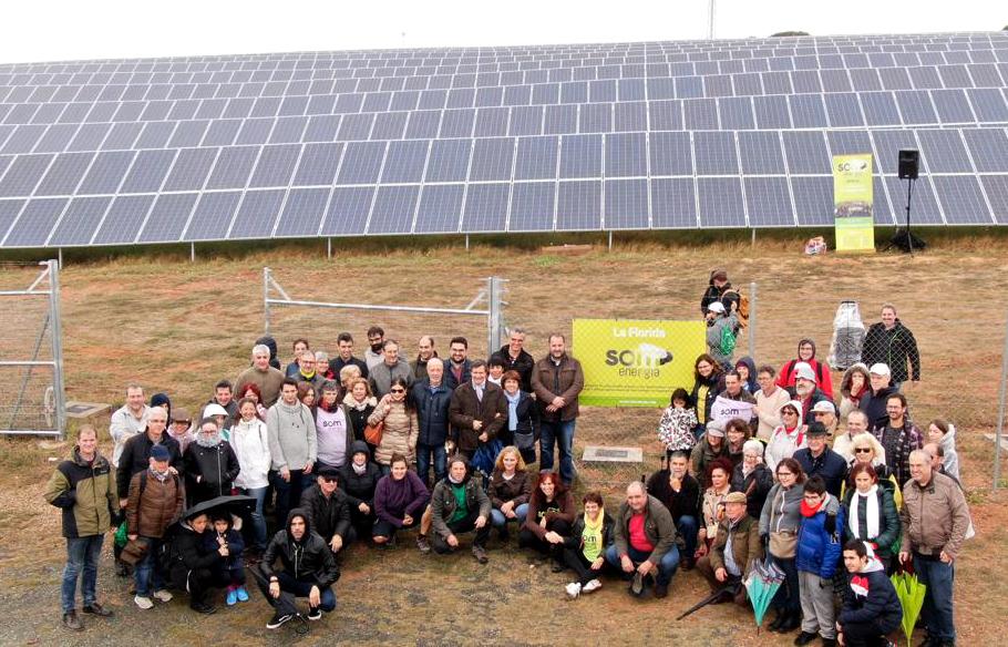 Planta fotovoltaica de SOM Energía financiada de forma colectiva