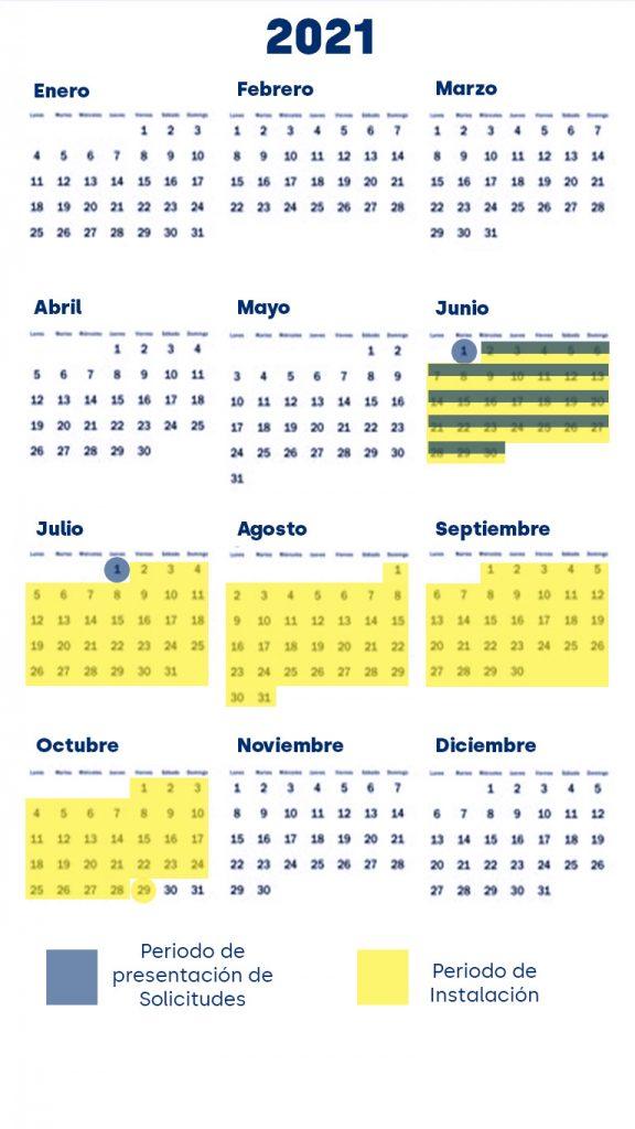 Calendario Subvenciones DGA 2021