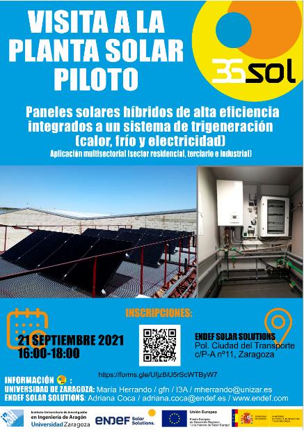 Cartel de la visita del 21 de septiembre al proyecto 3GSol