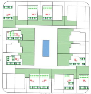 Plano de instalación fotovoltaica de autoconsumo en urbanización
